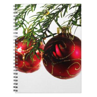 Frohe Weihnacht-Feiertags-Baum verziert celebratio Notizblock