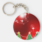 Frohe Weihnacht-Feiertags-Baum verziert celebratio Schlüsselanhänger