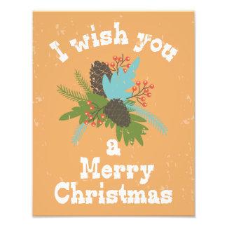 Frohe Weihnacht-Feiertags-Dekor Fotodruck