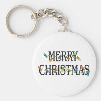Frohe Weihnacht-Feiertags-Lichter Schlüsselanhänger