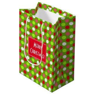 Frohe Weihnacht-Feiertags-Punkt-Mischung Mittlere Geschenktüte