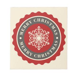 Frohe Weihnacht-Feiertags-Schneeflocke Notizblock