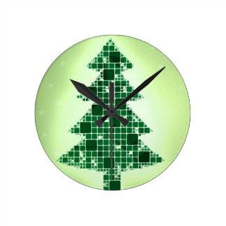 Frohe Weihnacht-Feiertagsfeiern Weihnachtsmann Runde Wanduhr