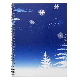 Frohe Weihnacht-Feiertagsfeiern Weihnachtsmann Spiral Notizblock
