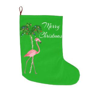 Frohe Weihnacht-Flamingo Großer Weihnachtsstrumpf