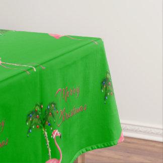 Frohe Weihnacht-Flamingo Tischdecke