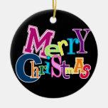 Frohe Weihnacht-flippige (schwarze) Verzierung Weinachtsornamente