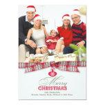 Frohe Weihnacht-Foto-Band-flache Karte 12,7 X 17,8 Cm Einladungskarte
