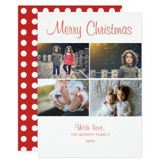 Frohe Weihnacht-Foto-Collage der Karte