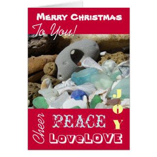 Frohe Weihnacht-Foto kardiert FriedensLiebe-Freude Grußkarten