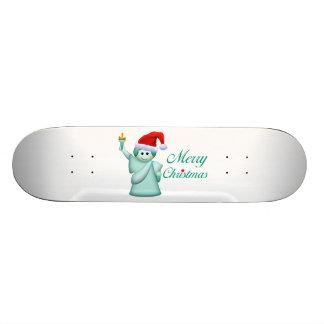 Frohe Weihnacht-Freiheitsstatue 19,1 Cm Old School Skateboard Deck