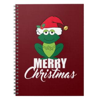 Frohe Weihnacht-Frosch Notizblock