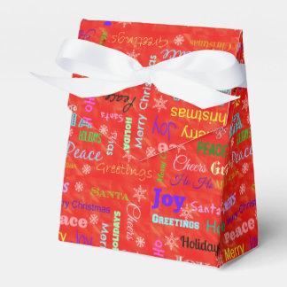 Frohe Weihnacht-Gastgeschenk-Kästen Geschenkschachtel