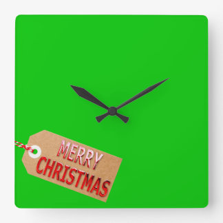 Frohe Weihnacht-Geschenk-Umbau-Quadrat-Wanduhr Quadratische Wanduhr