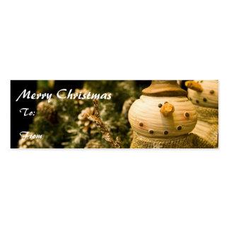 Frohe Weihnacht-Geschenk-Umbau Visitenkarten Vorlagen