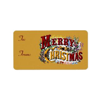 Frohe Weihnacht-Geschenk-Umbauten Adressaufkleber