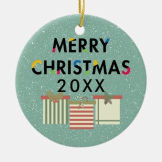 Frohe Weihnacht-Geschenkboxen-FeiertagWreath Keramik Ornament
