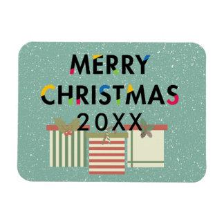 Frohe Weihnacht-Geschenkboxen-flexibler Magnet
