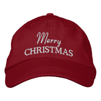 Frohe Weihnacht-gestickte Baseballmütze