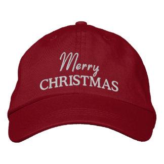 Frohe Weihnacht-gestickte Baseballmütze/Hut