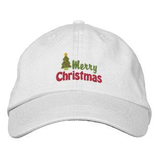 Frohe Weihnacht-gestickte Kappe