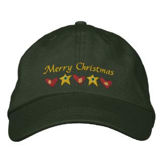 Frohe Weihnacht-gestickter Hut Bestickte Baseballcaps