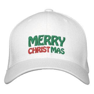 Frohe Weihnacht-gestickter Hut Bestickte Kappen