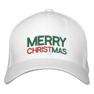 Frohe Weihnacht-gestickter Hut Bestickte Baseballmütze