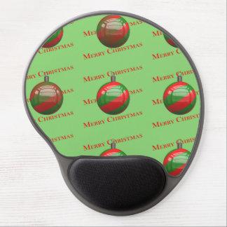 Frohe Weihnacht-gestreifte Verzierungen Gel Mousepad