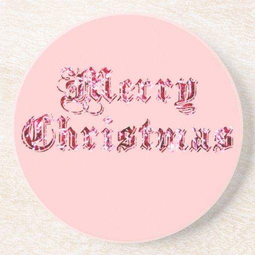 Frohe Weihnacht-Glitter Bierdeckel