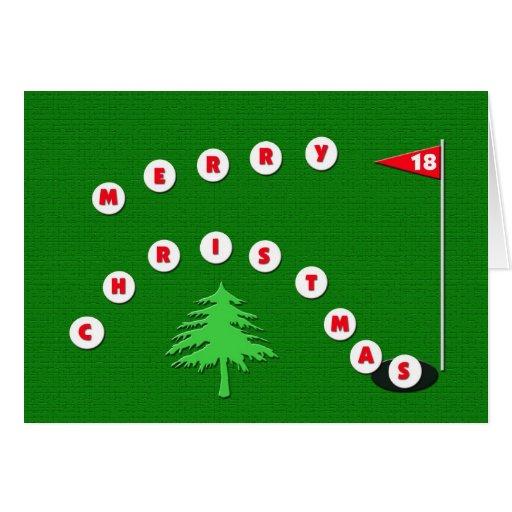 Frohe Weihnacht-Golf-Weihnachtskarte Karten