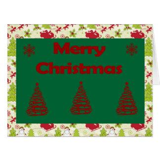 Frohe Weihnacht-große Gruß-Karte Karte