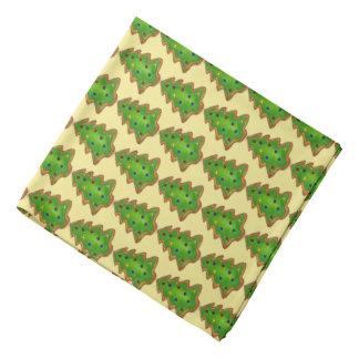Frohe Weihnacht-Grün-Baum-Zuckerplätzchen-Feiertag Halstuch