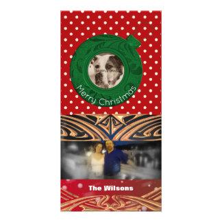 Frohe Weihnacht-Grün-Rot der Karte