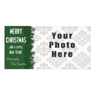 Frohe Weihnacht-Grün-Schneeflocke Karte