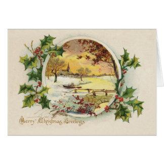 Frohe Weihnacht-Grüße Vintag Karte