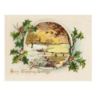 Frohe Weihnacht-Grüße Vintag Postkarten