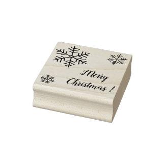 Frohe Weihnacht-GummiBriefmarke (Briefpapier) Gummistempel
