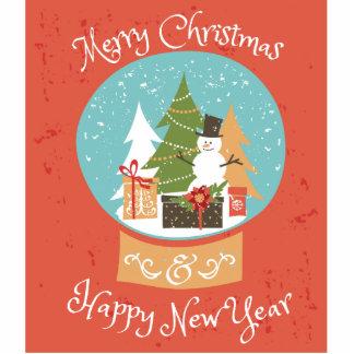 Frohe Weihnacht-guten Rutsch ins Neue Jahr Fotoskulptur Button
