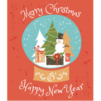 Frohe Weihnacht-guten Rutsch ins Neue Jahr Fotoskulptur Ornament