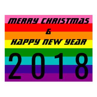 Frohe Weihnacht-guten Rutsch ins Neue Postkarte