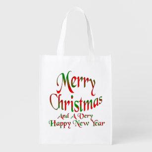 Frohe Weihnacht-guten Rutsch ins Neue Wiederverwendbare Einkaufstasche