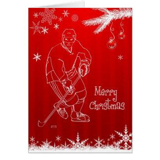 Frohe Weihnacht-Hockey-Schneeflocke-Gruß-Karte Karte