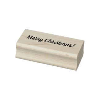 Frohe Weihnacht-hölzerner Block angebrachte Gummistempel