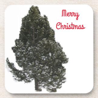 Frohe Weihnacht-Immergrün - Untersetzer