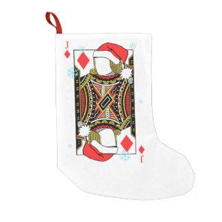 Frohe Weihnacht-Jack der Diamanten - addieren Sie Kleiner Weihnachtsstrumpf