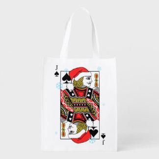 Frohe Weihnacht-Jack der Spaten Wiederverwendbare Einkaufstasche