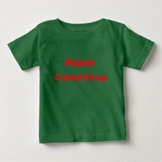 Frohe Weihnacht-Kinderkleinkindt-stück Baby T-shirt