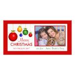 Frohe Weihnacht-klassische Feiertags-Foto-Karten