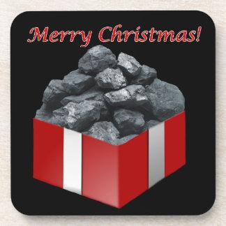 Frohe Weihnacht-Kohlen-Geschenk Cocktail Untersetzer